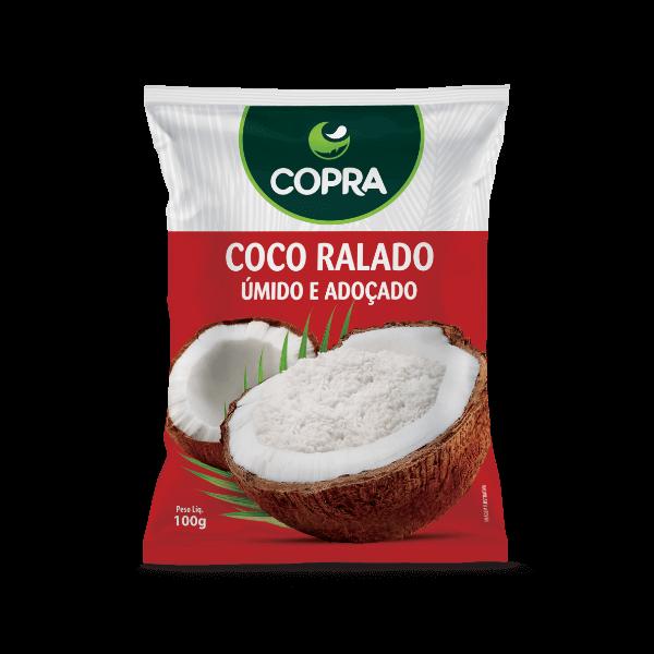 Coco Ralado Úmido e Adoçado