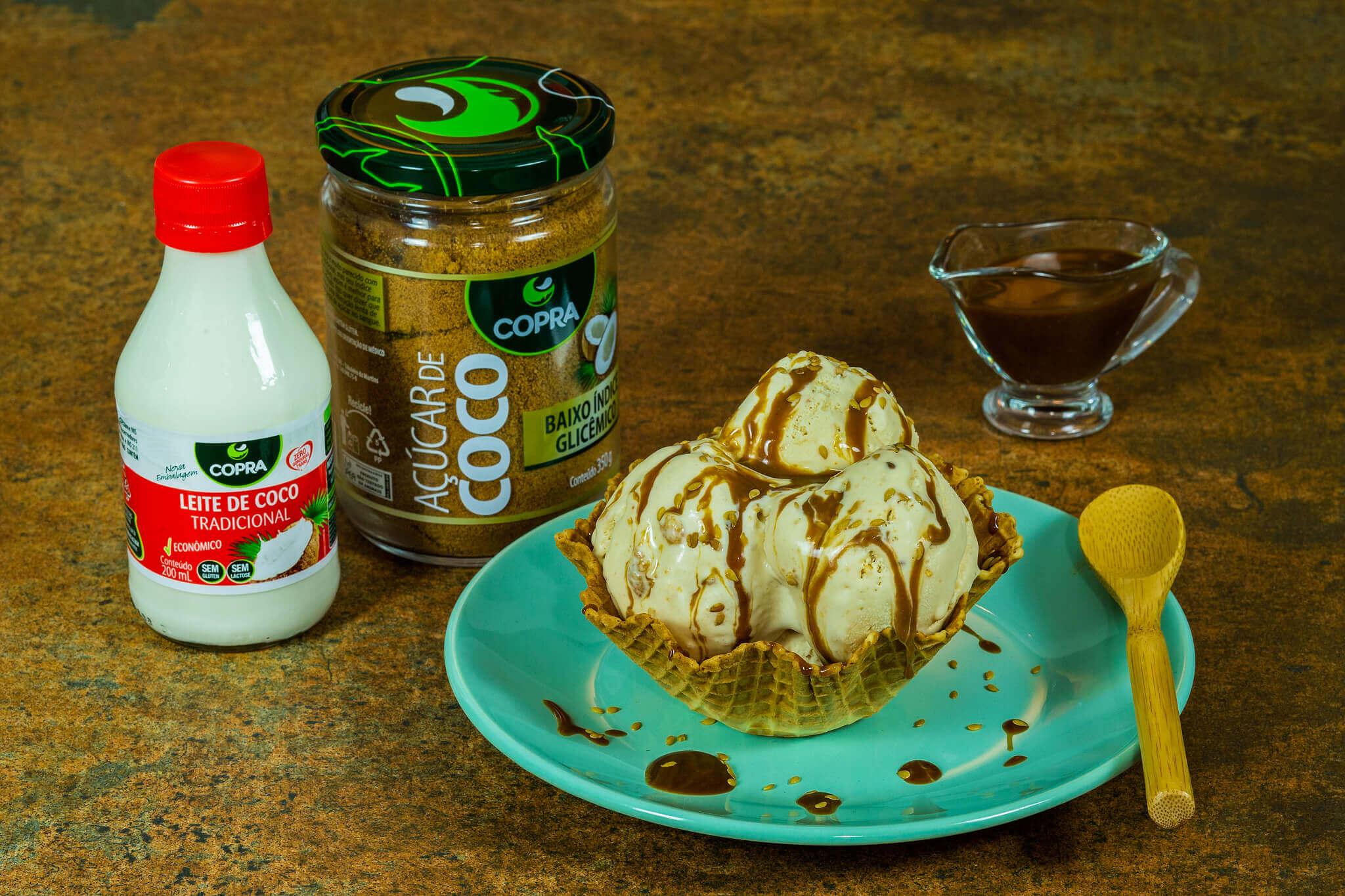 Sorvete Caramelo de Coco