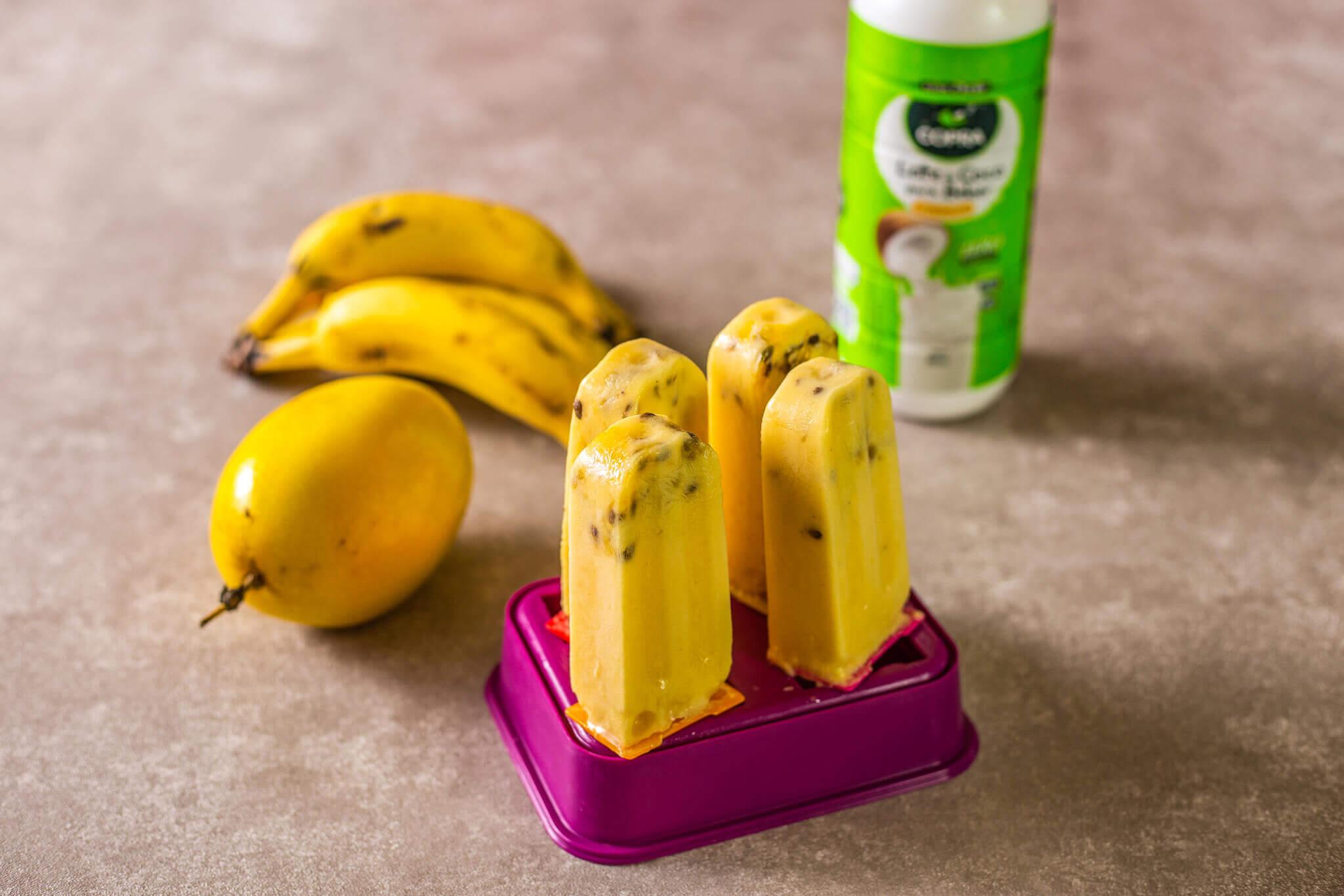 Picolé de Maracujá com Banana