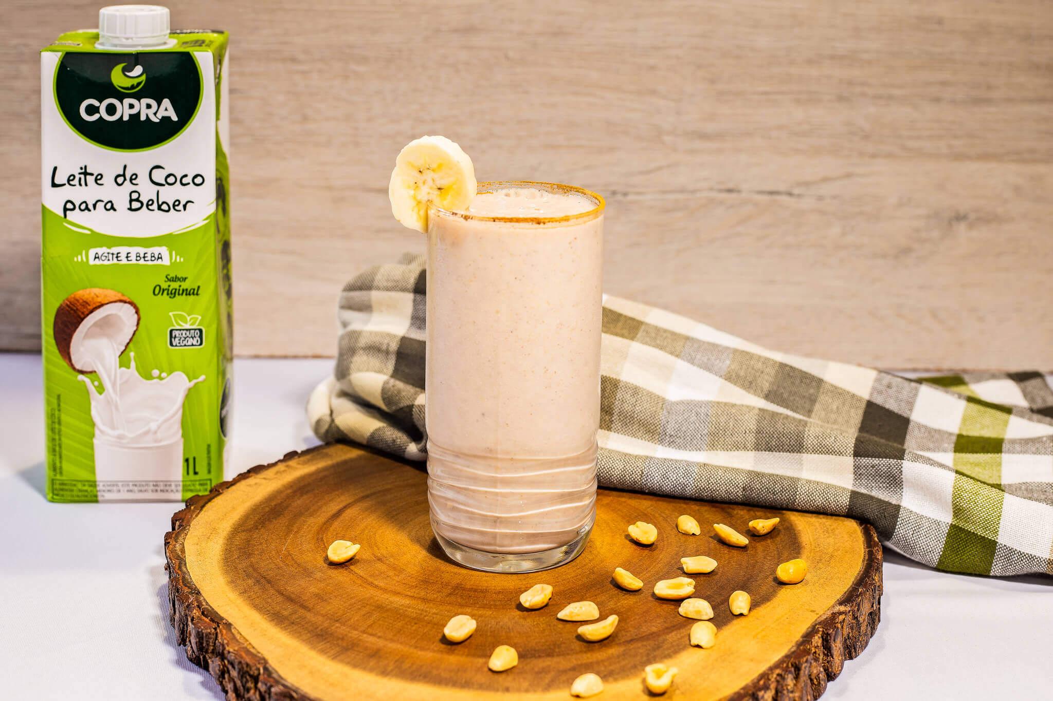 Shake de Banana com Amendoim e Canela