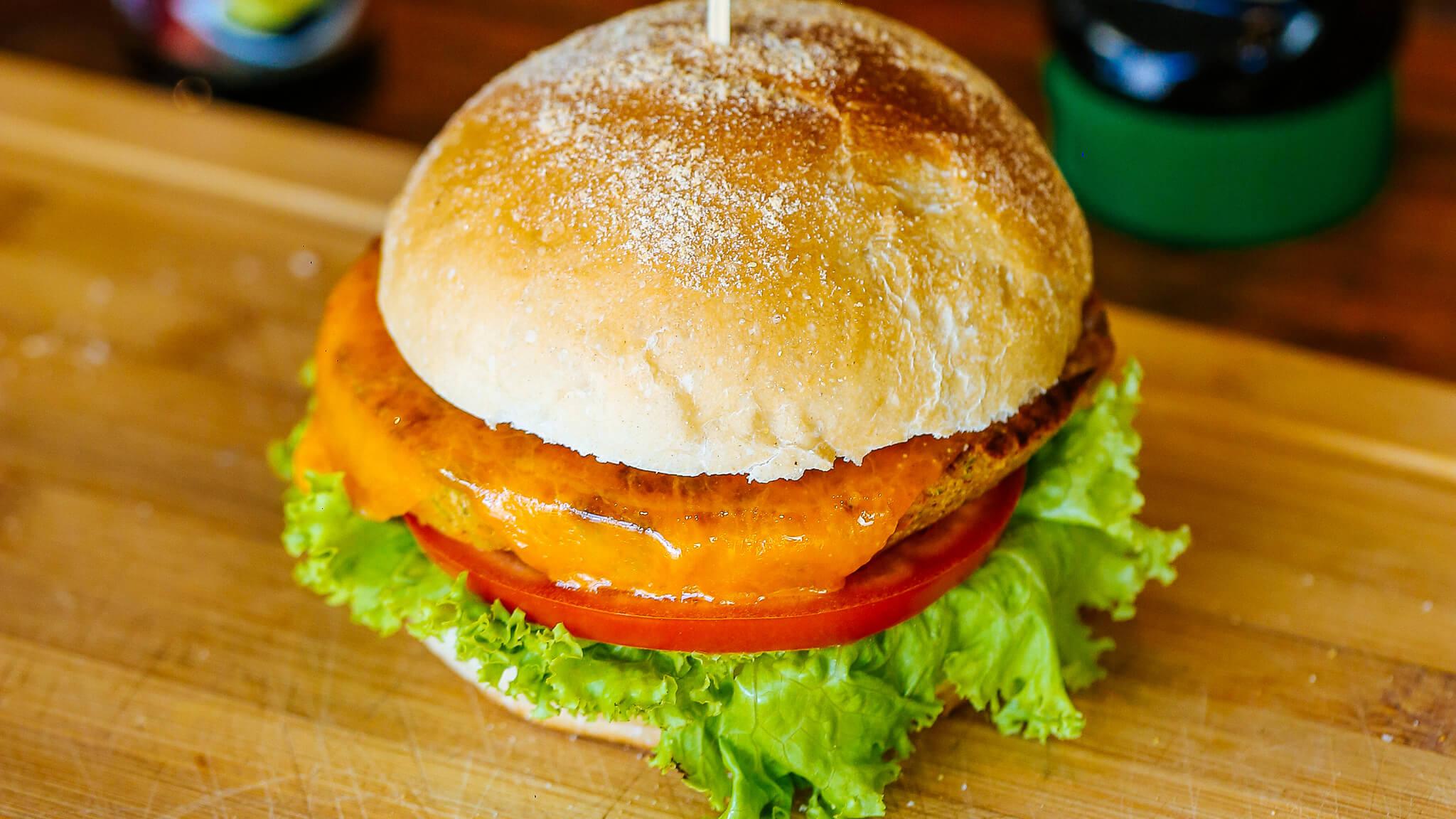 Hambúrguer de Grão de Bico